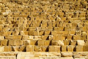 Stone blocks of Khufu pyramid in Egypt